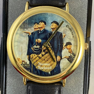 NIB Rain Delay by Norman Rockwell Vintage Watch